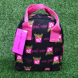 Betsey Johnson Cat Kitty Cat Lunch Tote